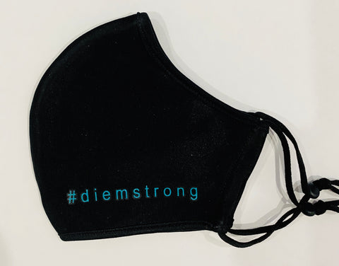 #diemstrong - Teal on Black