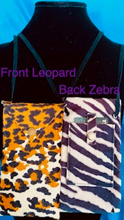 Faux Suede Animal Prints and Solid Pouches