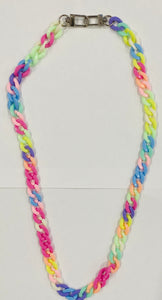 Custom Rainbow Large Link Mask Chain & Necklace