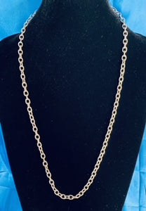 Custom Rhodium Plated Textured Silver Detachable Necklace & Mask Chain