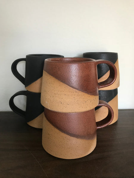 Modern Coffee Mug - 12 oz, Set of 4