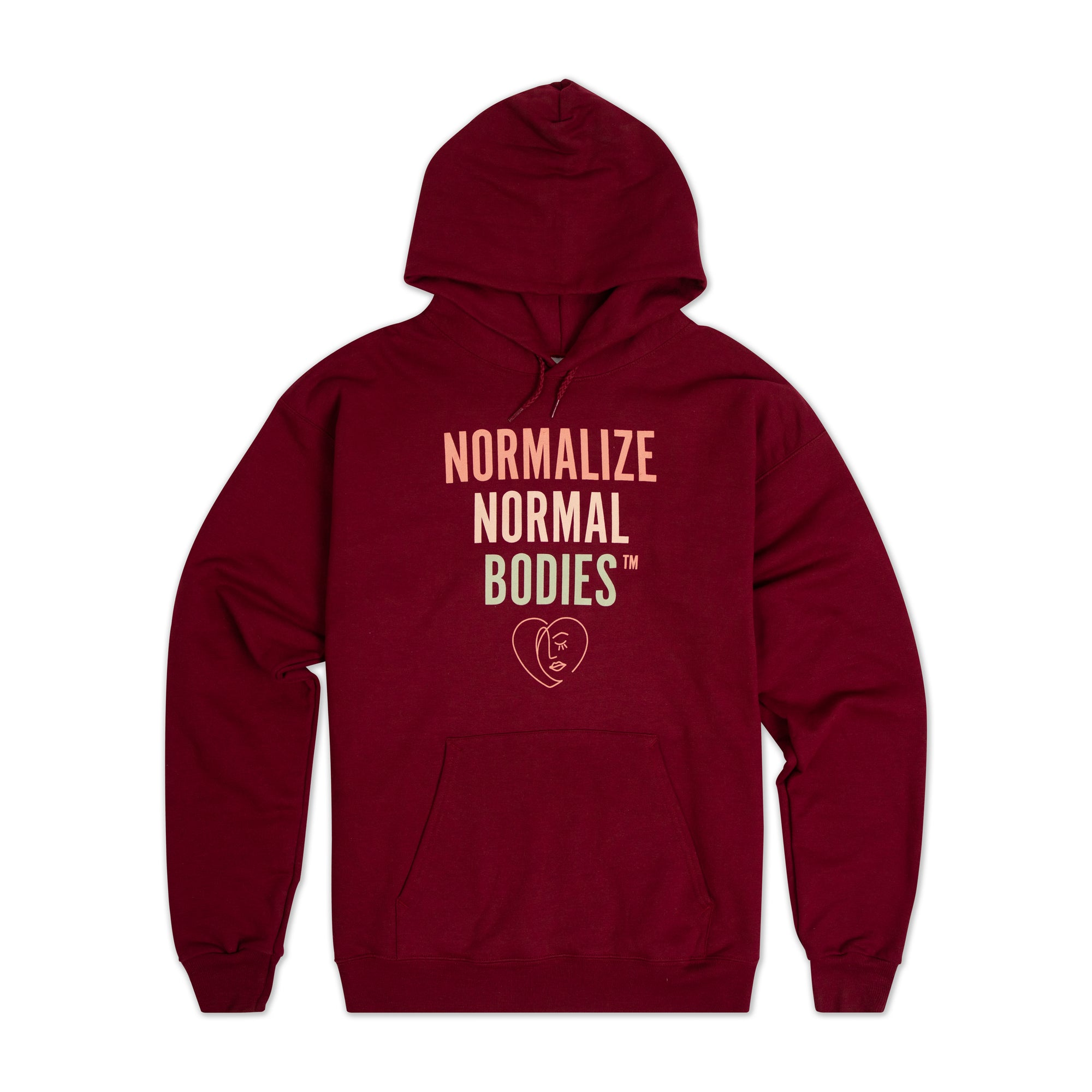 Normalize Normal Bodies™ Maroon Hoodie
