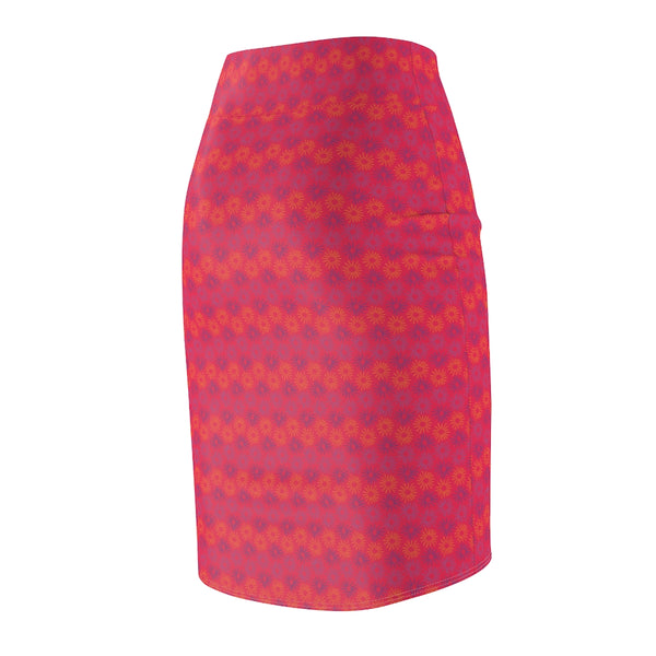 Rows of Sunshine Women's Pencil Skirt