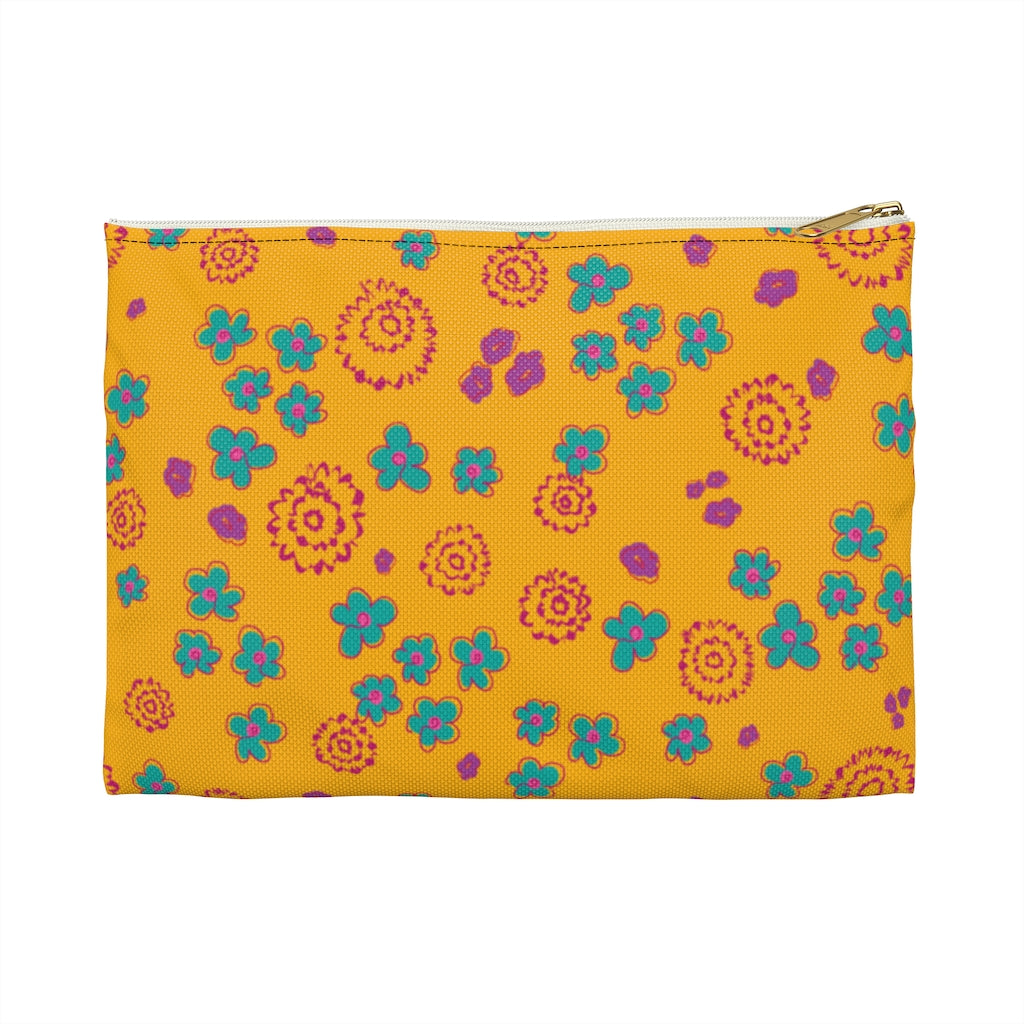 Yellow Flower Pop Accessory Pouch