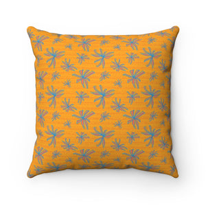 Citrus Burst Spun Polyester Square Pillow