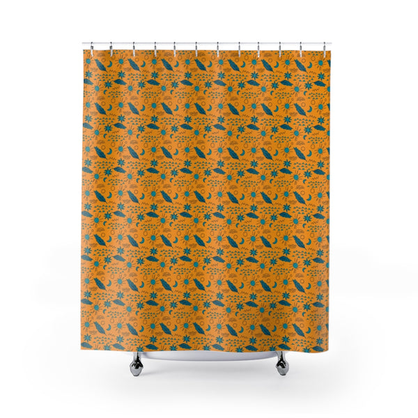 Desert Feather Flair Shower Curtain