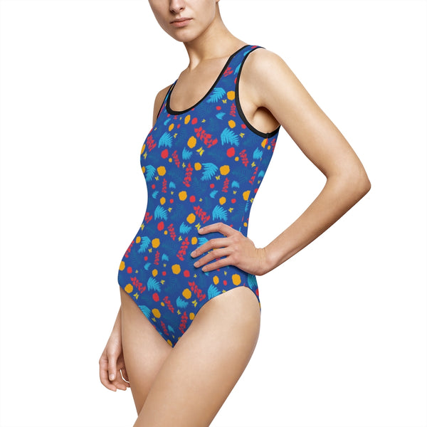Blue Summer Women's Classic One-Piece Swimsuit