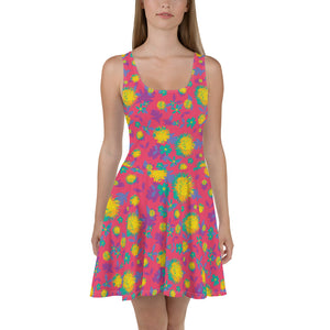Pink Pop Meadow Skater Dress