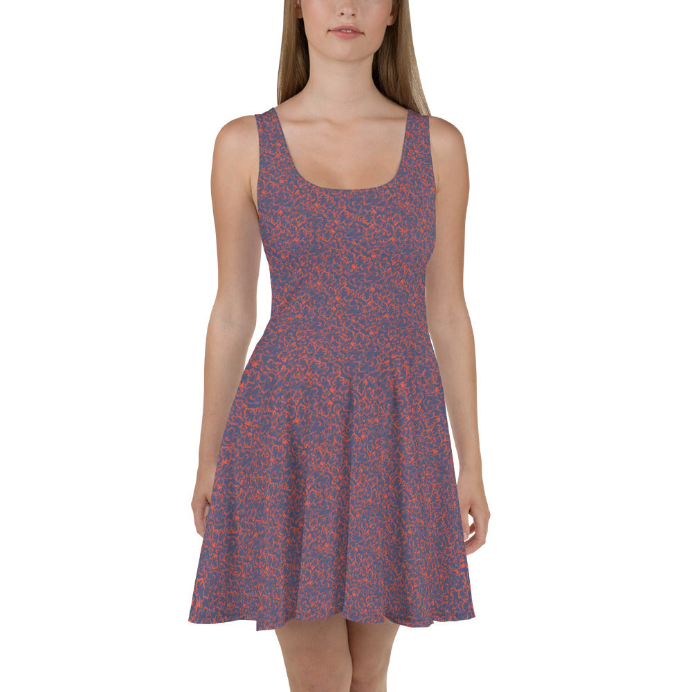Purple Marble Skater Dress
