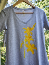 Load image into Gallery viewer, Day Lilies  Tee Shirt Dress Hand Painted by East Chop Designs on Cape Cod S/M