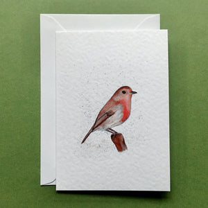 Robin Greeting Card - Kerry Dawn Illustration