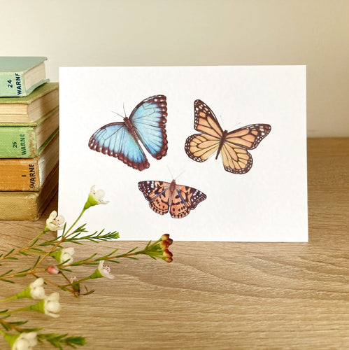 Butterflies Greeting Card - Kerry Dawn Illustration