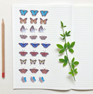 Small Butterfly Journal and Planner Stickers - Kerry Dawn Illustration