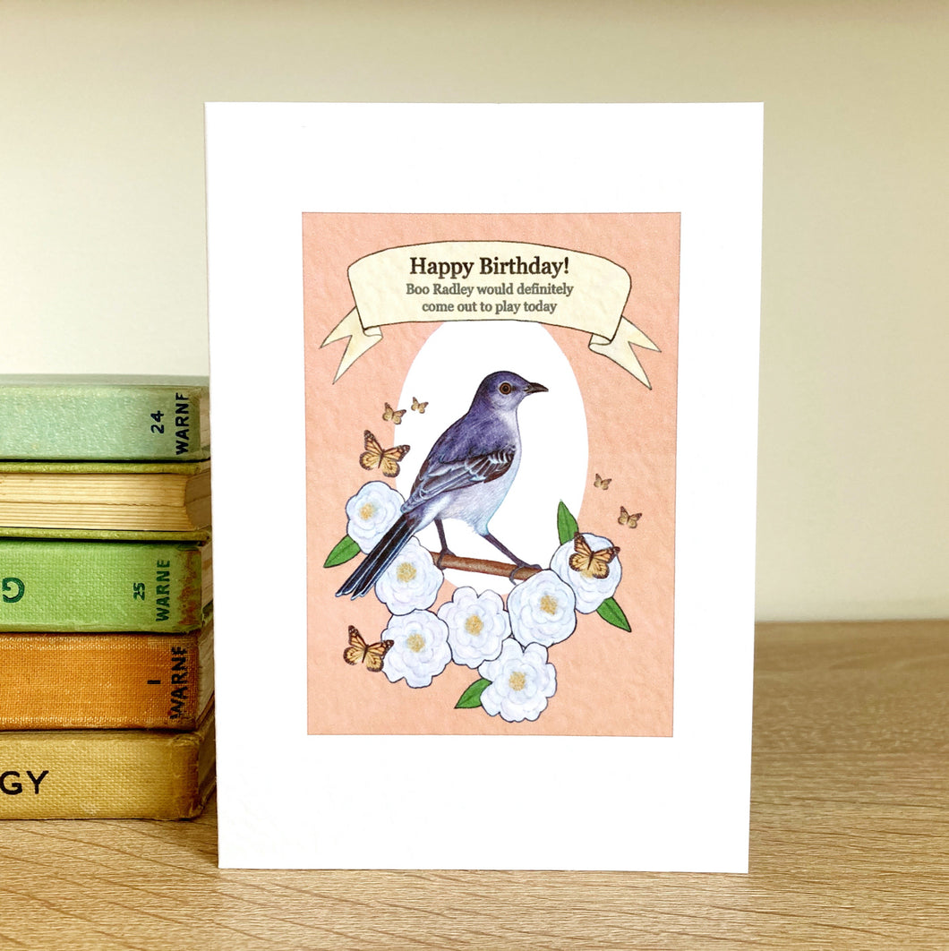 To Kill a Mockingbird Birthday Greeting Card - Kerry Dawn Illustration