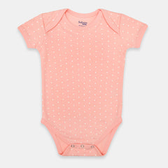 Pink & White Polka Dotted Organic Cotton Bodysuit