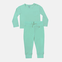 Ice Green Bamboo Top & Bottom Set