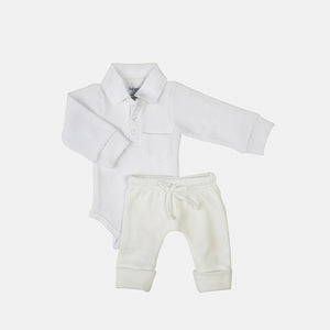 2 Pack Boss Baby Textured Bodysuit & Knit Pants Set
