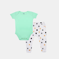 2-Piece Freshly Minted Bodysuit & Knit Pants Set