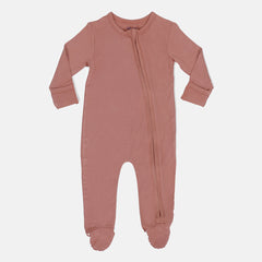 Autumn Breeze Bamboo Zipper Footie