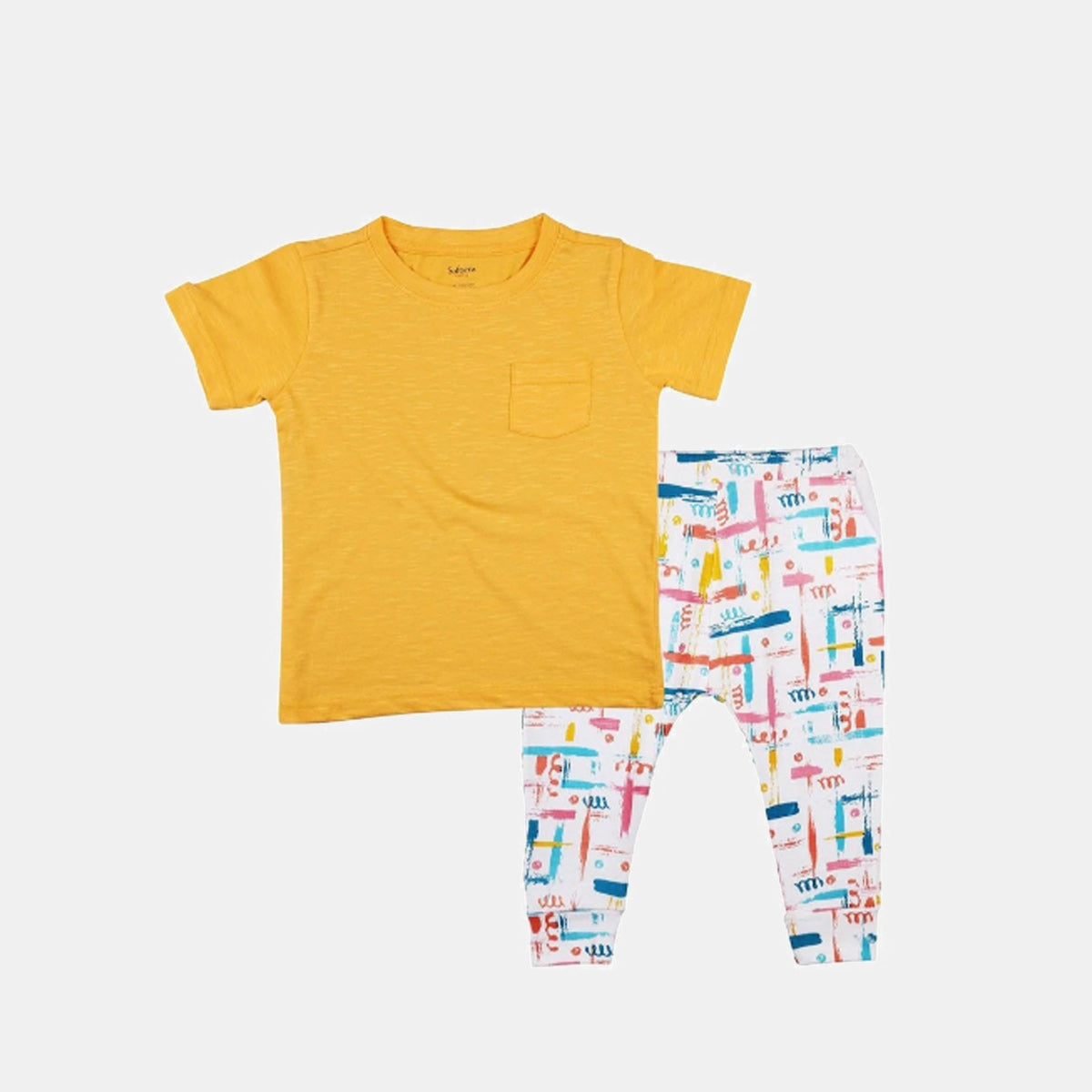 2-Piece Summer Glow T-shirt & Knit Pants Set