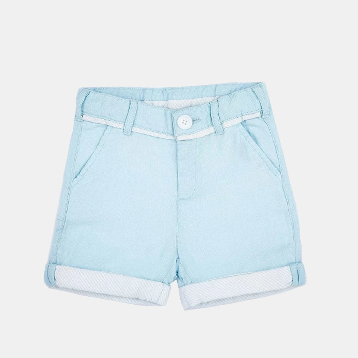Sky Blue Oxford Shorts
