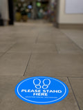 Floor Decal - Please Stand Here