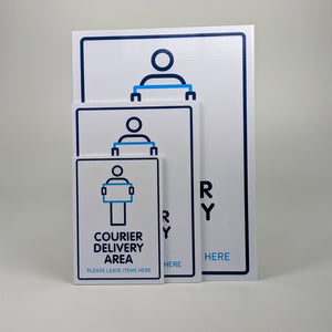 Courier Delivery Sign
