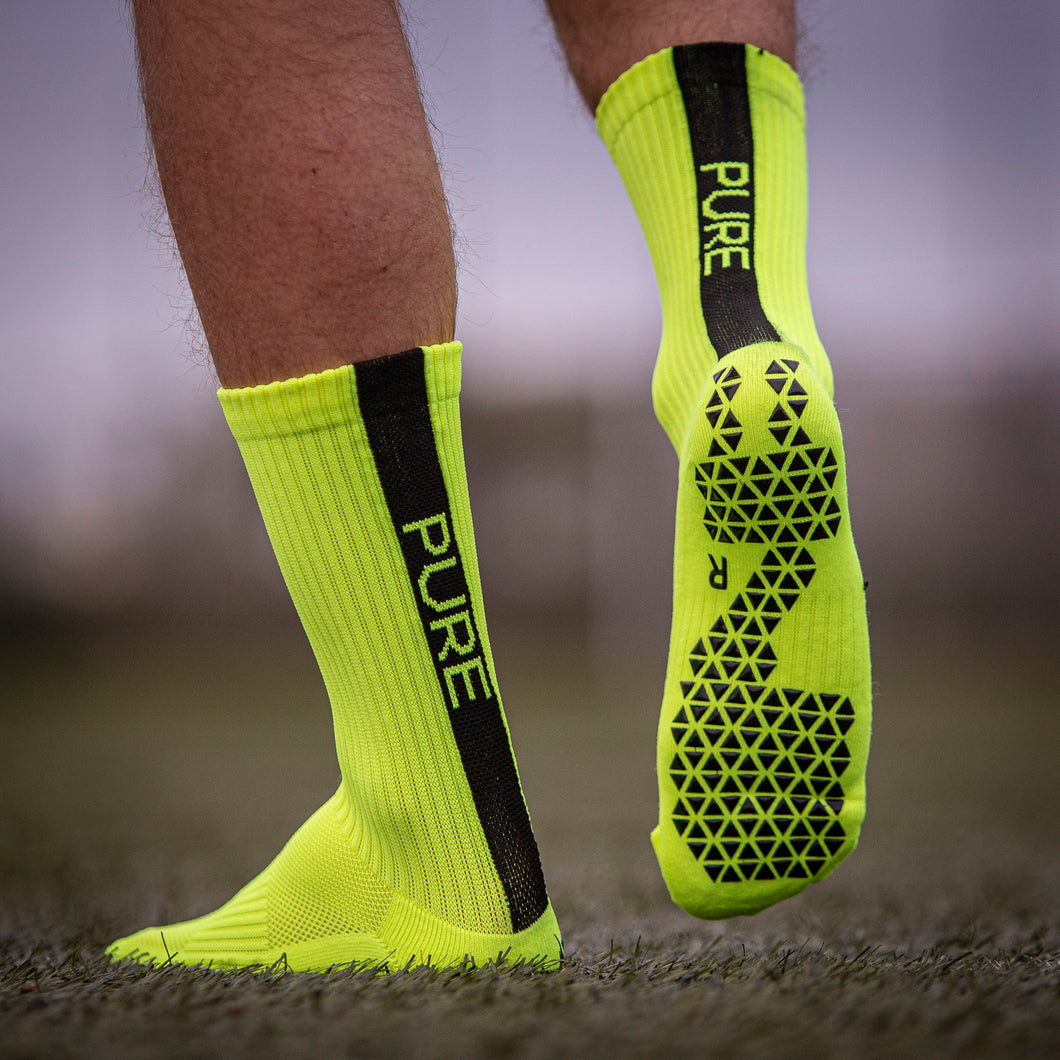 Pure Grip Socks Neon Yellow