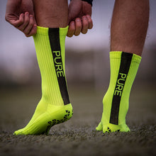 Load image into Gallery viewer, Pure Grip Socks Neon Yellow