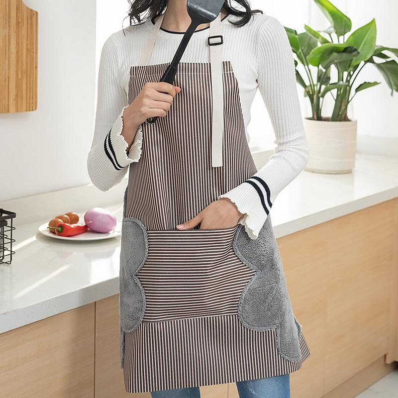 Home Cooking Apron Double-side Hand Wiping Oxford