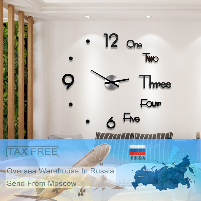 New Acrylic Fashion Creative Wall Clock Modern Design