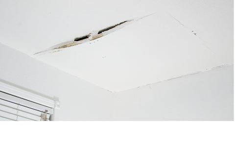 Cracked ceiling from water damage