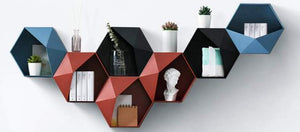 Nordic style wall shelves home decor storage geometric