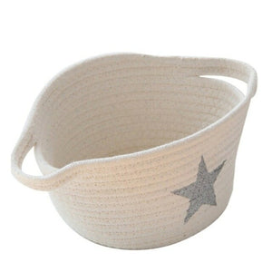 Foldable cotton basket
