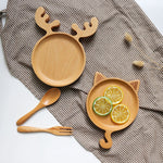Load image into Gallery viewer, Animated wooden food tray/plate