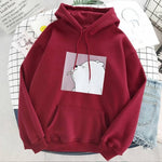 Load image into Gallery viewer, Women's print hoodie apricot