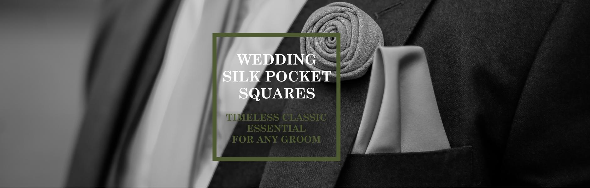 Wedding Silk Pocket Squares - British Made