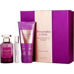 Abercrombie & Fitch Gift Set Abercrombie & Fitch Authentic Night By Abercrombie & Fitch  -  Abercrombie & Fitch - The Perfume Bazaar -www.theperfumebazaar.com - Gift Sets Fragrances for Women