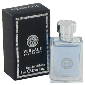 Versace Pour Homme by Versace Mini EDT .17 oz for Men  -  Versace - The Perfume Bazaar -www.theperfumebazaar.com - 5 ml, Men, Versace Fragrances for Men
