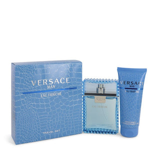 Versace Man by Versace Gift Set -- 3.3 oz Eau De Toilette Spray (Eau Frachie) + 3.3 oz Shower Gel for Men  -  Versace - The Perfume Bazaar -www.theperfumebazaar.com - Men, Versace Fragrances