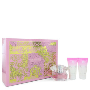 Bright Crystal by Versace Gift Set -- 1.7 oz Eau De Toilette Spray + 1.7 oz Body Lotion + 1.7 oz Shower Gel for Women  -  Versace - The Perfume Bazaar -www.theperfumebazaar.com - Versace, Wom