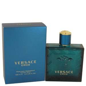 Versace Eros by Versace Deodorant Spray 3.4 oz for Men  -  Versace - The Perfume Bazaar -www.theperfumebazaar.com - 100 ml, Men, Versace Fragrances for Men