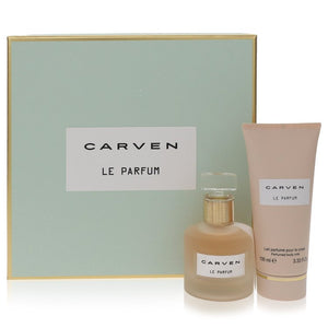 Carven Le Parfum by Carven Gift Set -- 1.7 oz Eau De Parfum Spray + 3.4 oz Body Milk for Women  -  Carven - The Perfume Bazaar -www.theperfumebazaar.com - Carven, Women Fragrances for Women