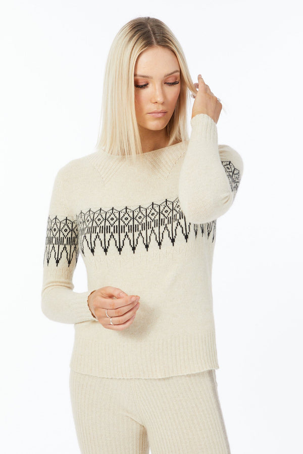 Possum Silk Merino Fair Isle Jumper