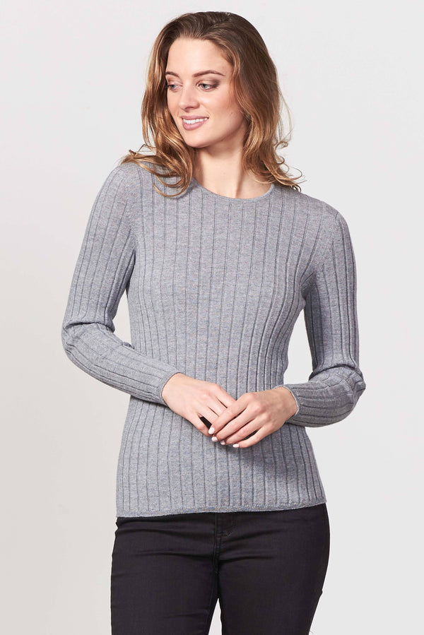Rib Jewel N Jumper Womens Jumper Royal Merino