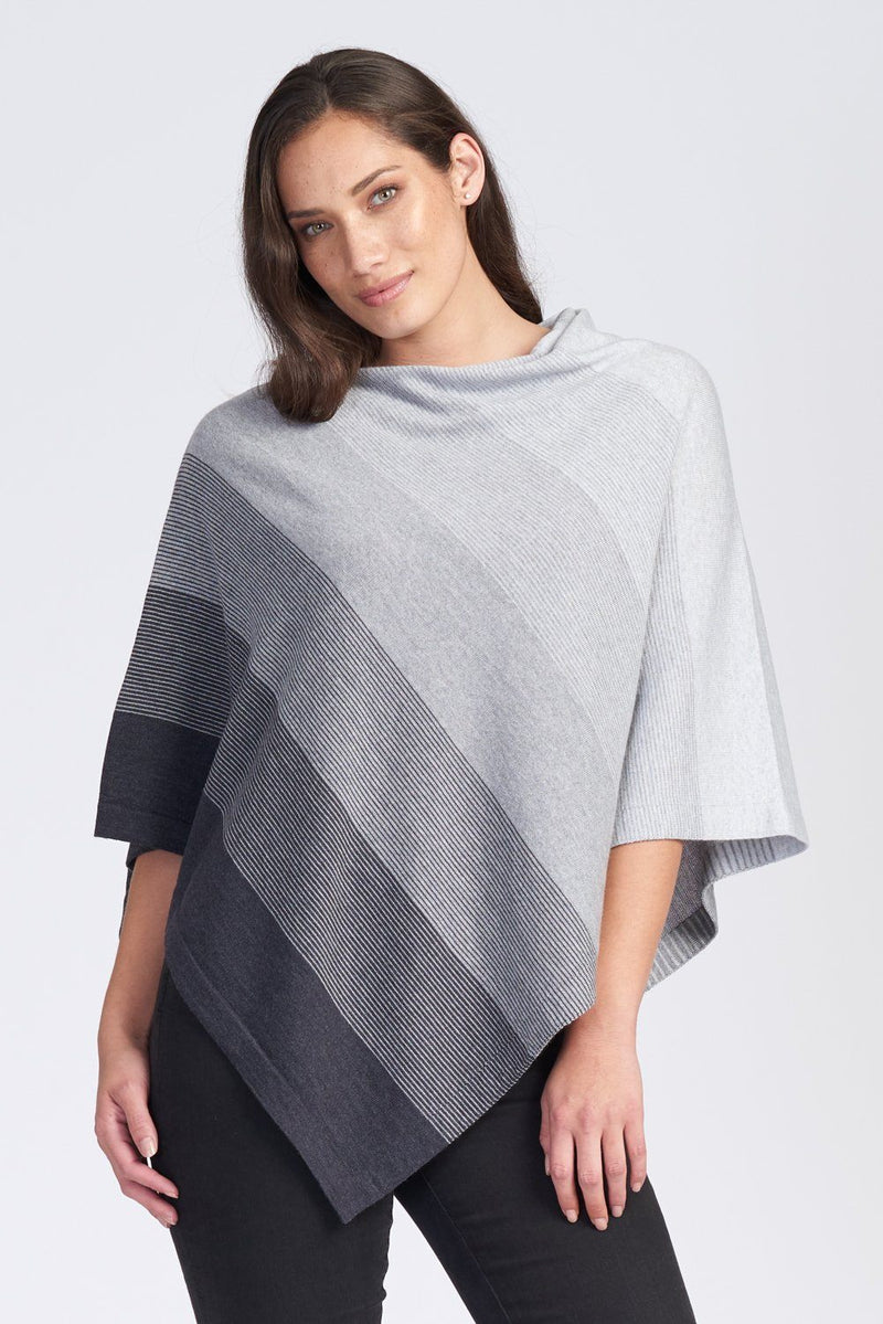 Graduated Poncho Women Poncho Royal Merino