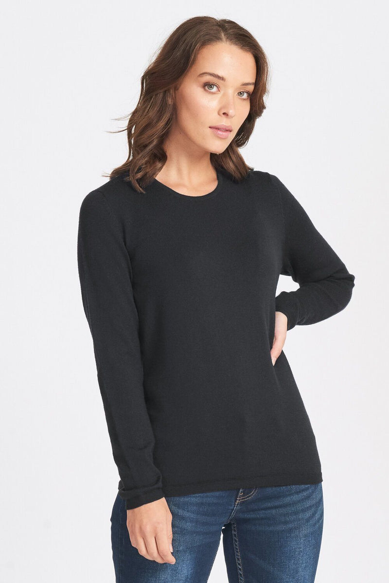 L/S classic Crew Women Sweater Royal Merino