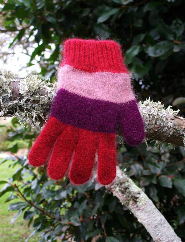 Child Lycra Striped Glove Kids Gloves Lothlorian