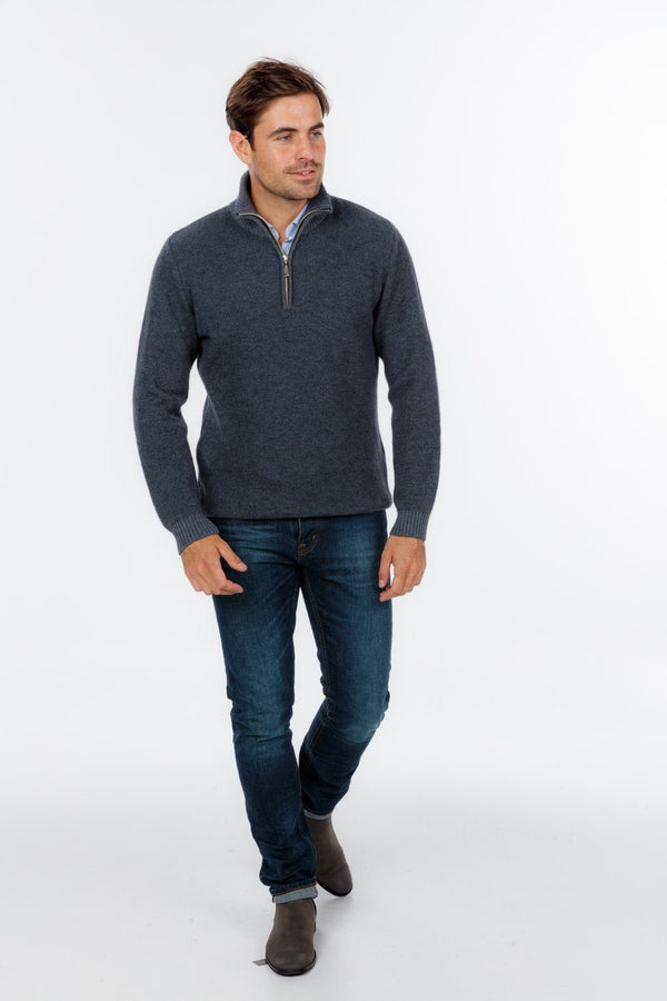 Textured Half Zip Sweater Mens Sweater Native World