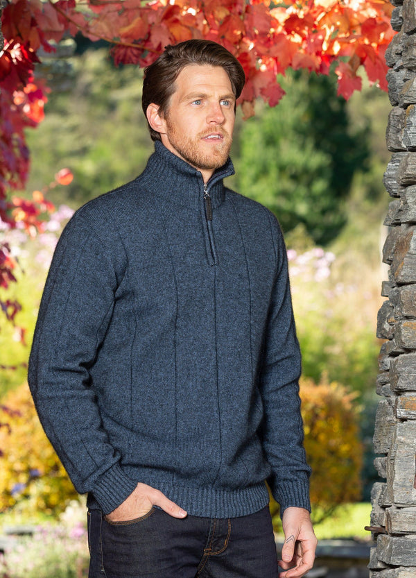 Javelin Zip Neck Mens Sweater Noble Wilde